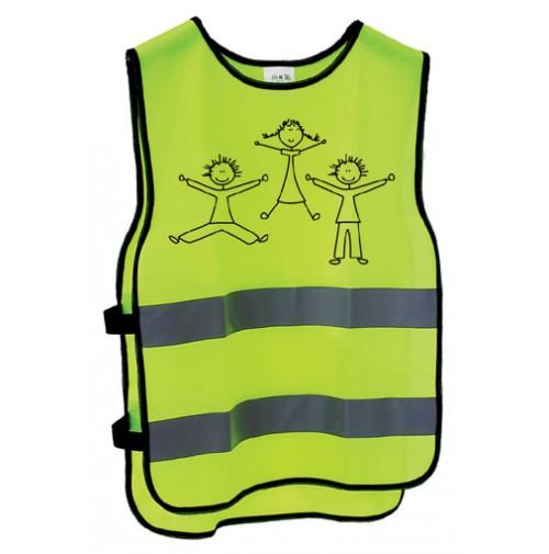 Reflexná vesta pre deti s motívom