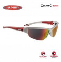 Cyklistické okuliare Alpina CALLUM 2.0 bielo-červené