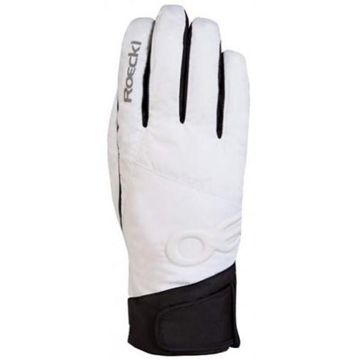 Lyžiarske rukavice Roeckl Corvatsch bielo-čierne
