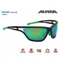 Cyklistické okuliare Alpina EYE-5 CM+ čierna matná-zelená