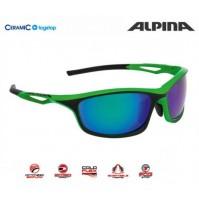 Cyklistické okuliare Alpina SORCERY CM+ zeleno-čierne matné