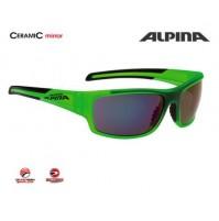 Cyklistické okuliare Alpina TESTIDO zelená matná-čierna