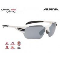 Cyklistické okuliare Alpina TRI-SCRAY bielo-čierne