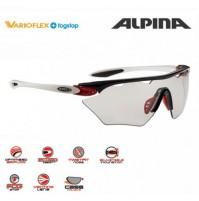 Cyklistické okuliare Alpina Twist Four Shield VL+ čierno-červeno-biele
