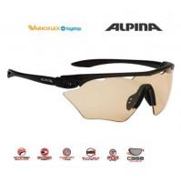 Cyklistické okuliare Alpina Twist Four Shield VL+ čierne matné