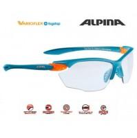 Cyklistické okuliare Alpina Twist Four VL+ modrá mat-oranžová