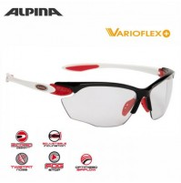 Cyklistické okuliare Alpina Twist Four VL+ čierno-červeno-biele