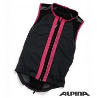 Lyžiarska vesta ALPINA Soft Protektor Kids sivo-ružová