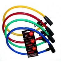 MAX1 Zámok lankový na kľúč 65 cm, rôzne farby
