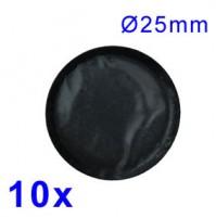 Záplaty na opravu veloduše 25mm - 10 ks