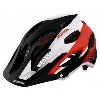 Cyklistická prilba ALPINA Carapax čierno-bielo-neonová červená