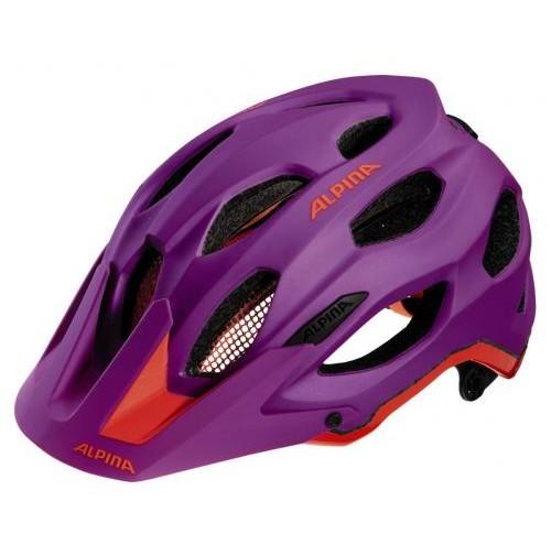 ALPINA Cyklistická prilba Carapax fialovo-neon-červená