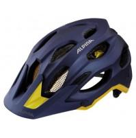 Cyklistická prilba ALPINA Carapax tmavomodro-žltá