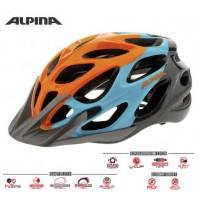 Cyklistická prilba ALPINA MYTHOS 2.0 oranžovo-modro-titánová