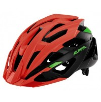 Cyklistická prilba ALPINA Valparola XC červeno neonová - čierna - zelená