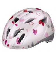 Cyklistická prilba ALPINA Ximo biele srdiečka