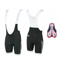 Nohavice FORCE B40 s trakmi a vložkou, čierne, krátke