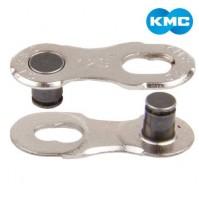 Spájací článok na 9sp. reťaz KMC 9R Silver EPT - 2 ks na karte