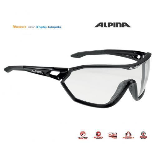 Okuliare Alpina S-WAY L VL+ čierne matné
