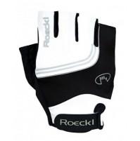Rukavice cyklistické ROECKL Belluno bielo-čierne