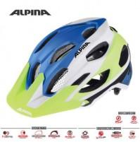 Cyklistická prilba ALPINA Carapax modro-bielo-žltá