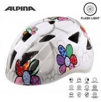 Cyklistická prilba ALPINA Ximo Flash biela-kvietky