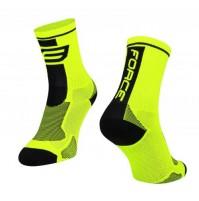 Ponožky FORCE LONG fluo-čierne