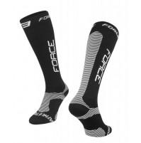 Ponožky FORCE ATHLETIC PRO KOMPRES čierne