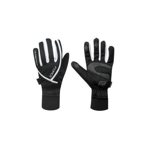 Zimné rukavice FORCE ULTRA TECH čierno-biele