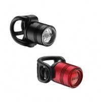 LEZYNE Set svetiel LED FEMTO DRIVE čierne+červené