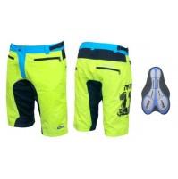 Nohavice MTB-11 s odnímateľnou vložkou, žlté