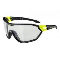 Okuliare Alpina S-WAY VL+ čierna matná-neon žltá