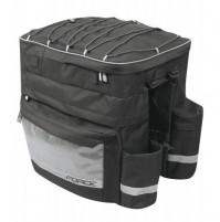 FORCE taška TARGET na zadný nosič, trojtaška, čierna, 32 l