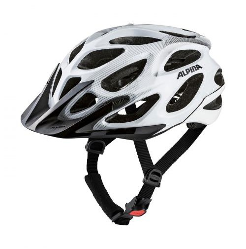 Cyklistická prilba ALPINA MYTHOS 2.0 biela-strieborné čiarky