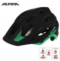 Cyklistická prilba ALPINA Carapax čierno-zelená