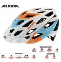 Cyklistická prilba ALPINA D-ALTO bielo-oranžovo-modrá