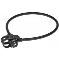 Zámok lankový Trelock KS 322/75/14 FIXXGO čierny
