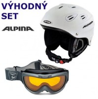 Lyžiarsky set Alpina biely L - prilba JUNTA | okuliare FreeSpirit DH