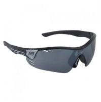 Okuliare FORCE RACE PRO čierne, čierne laser sklá