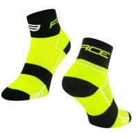 Ponožky FORCE SPORT 3, Fluo-čierne