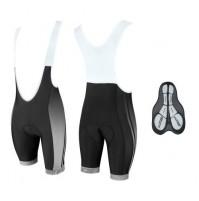 Nohavice FORCE B40 s trakmi a vložkou, čierno-šedé krátke