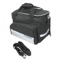 FORCE taška na zadný nosič LARGE čierna, 20L